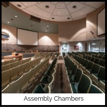 Photo of seats in Assembly Chambers