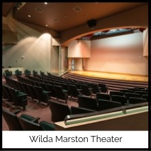 Photo of seats in the Wilda Marston Theatre